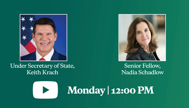 Video Livestream | A Conversation with Under Secretary of State Keith Krach on America's Economic Security