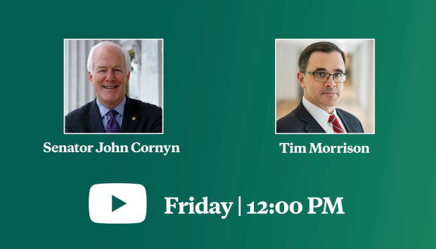 Virtual Event | Confronting a New Era of Global Threats: A Conversation with US Senator John Cornyn