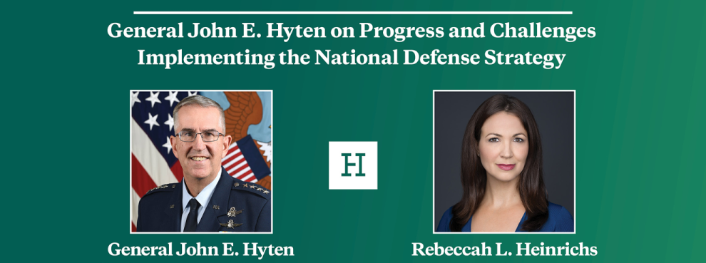 Video Event | General John E. Hyten on Progress and Challenges Implementing the National Defense Strategy