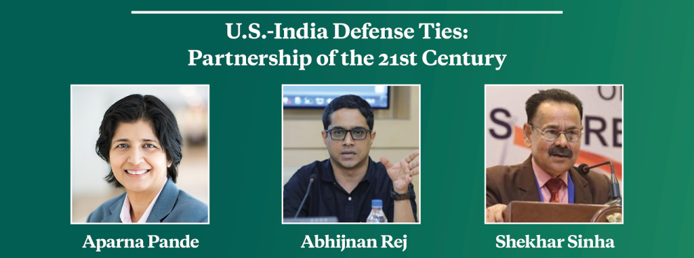Video Event | U.S.-India Defense Ties: Partnership of the 21st Century
