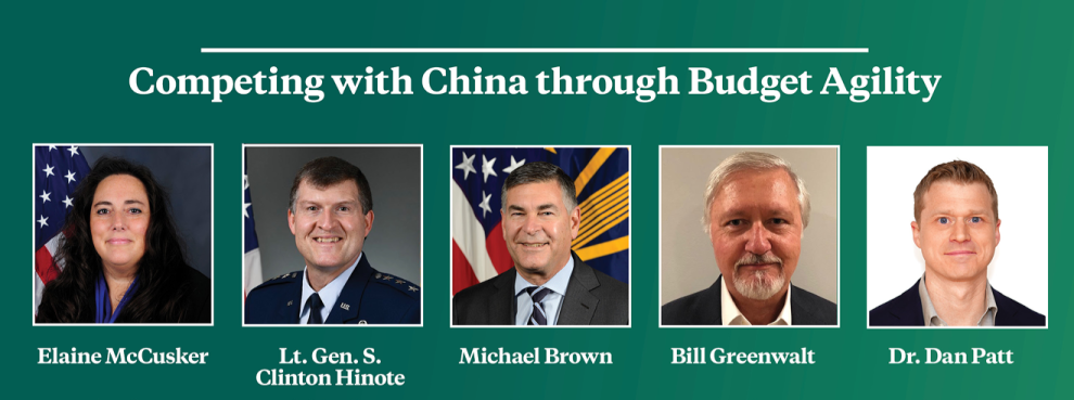 Virtual Event | Competing with China through Budget Agility