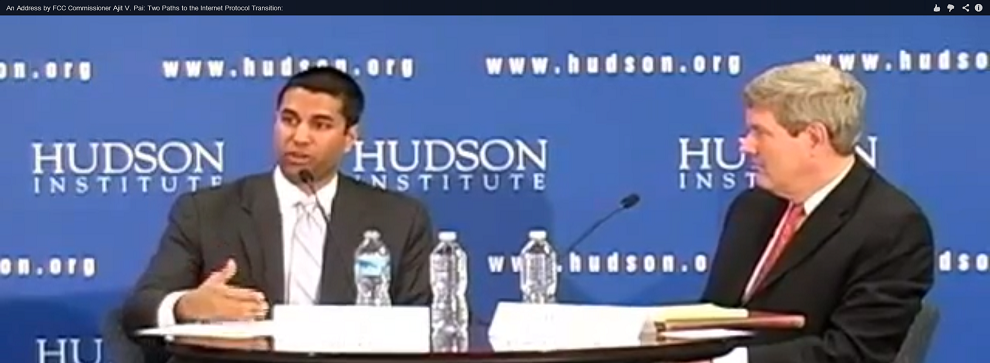 Hudson Event: FCC Commissioner Ajit V. Pai Discusses the Internet Protocol Transition, March 7, 2013