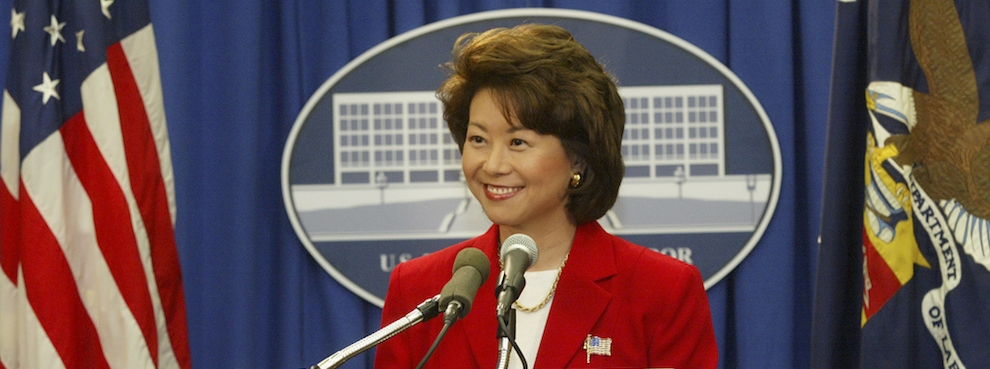 Elaine L. Chao, 24th U.S. Secretary of Labor, Joins Hudson Institute