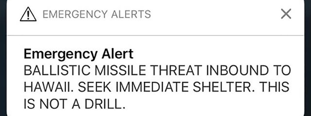 Hawaii Alert Fiasco is a Wake-Up Call for America to Get Serious about Missile Defense