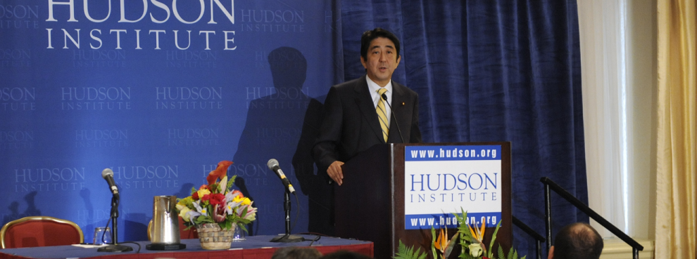 Hudson Institute Thanks Japanese Prime Minister Shinzo Abe