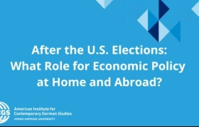 After the U S Elections: What Role for Economic Policy at Home and Abroad?