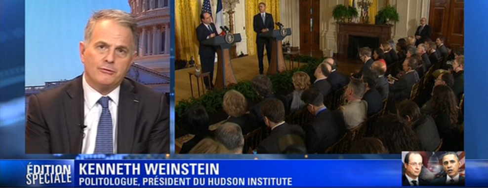 Kenneth Weinstein discusses French President Hollande's visit to U.S., February 11, 2014, BFMTV (France)