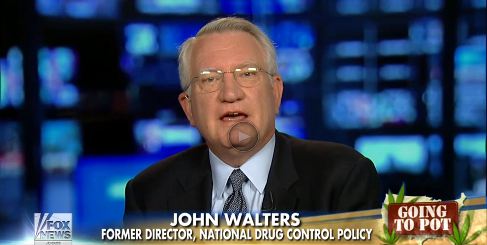 John Walters discussing how casual pot smoking may cause brain damage, Fox News, April 17, 2014