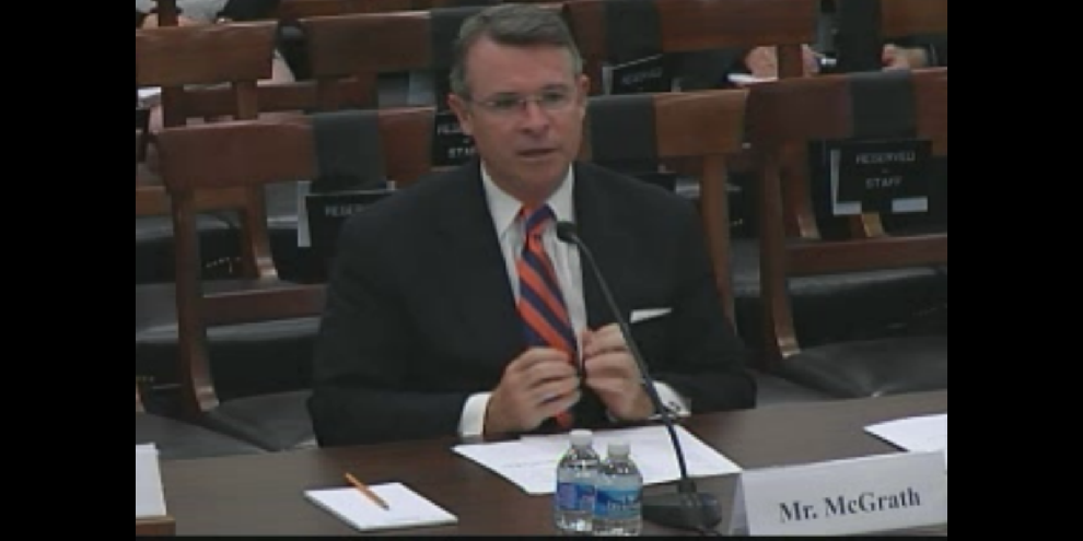Bryan McGrath speaking before the Armed Services Committee, July 16, 2014