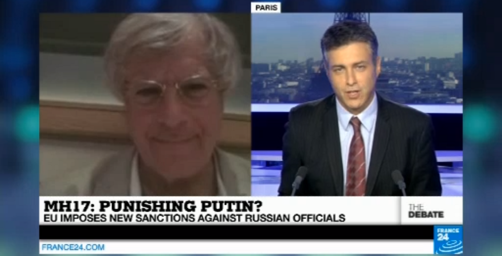 David Satter discusses Malaysia Airlines Flight 17, Vladimir Putin, and the rebels in Ukraine, France 24, July 23, 2014
