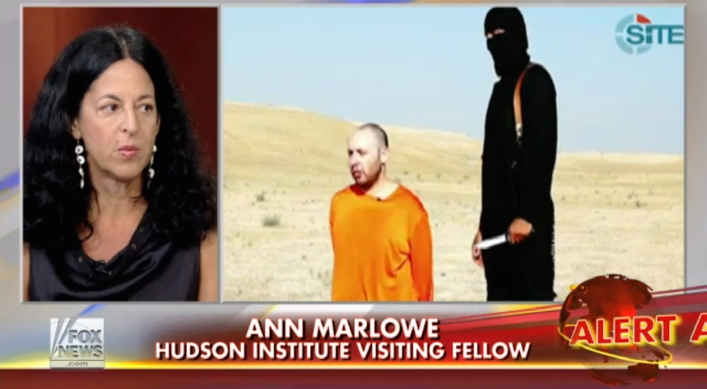 Ann Marlowe, Who Reported Alongside Sotloff, Reacts to Tragedy, Fox News, September 3, 2014