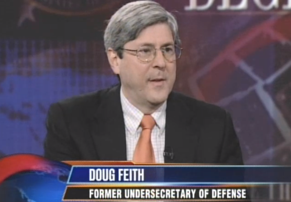 Douglas Feith on The Daily Show, Part 1, May 12, 2008