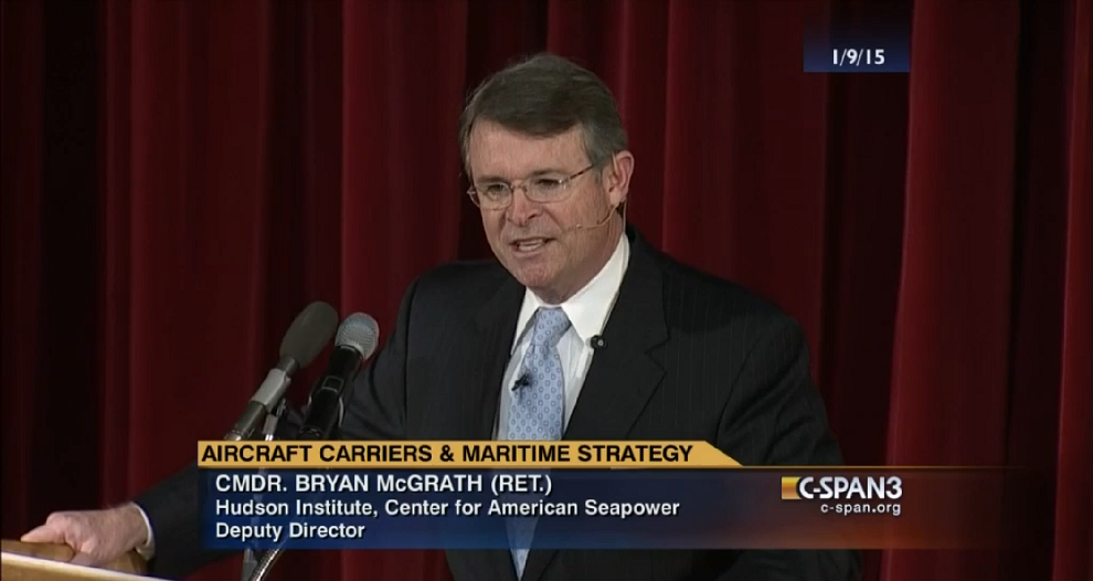 Aircraft Carriers and Maritime Strategy, C-SPAN 3, January 9, 2015