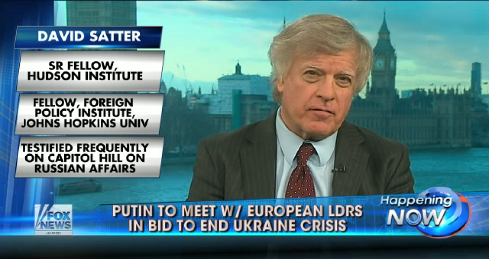 Satter: US needs to raise price of Russian aggression, Fox News, February 5, 2015