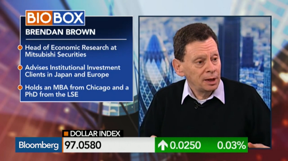 Fed Has Been Creating Asset Price Inflation: Brown, Bloomberg TV, March 24, 2015