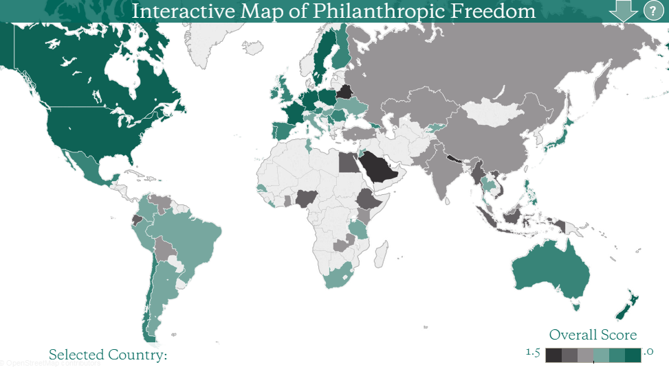 The Interactive Map of Philanthropic Freedom