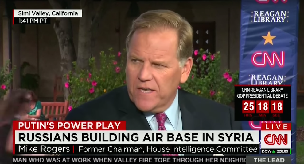 Mike Rogers on Russia in Syria and the GOP Candidates' Experience, CNN, September 16, 2015