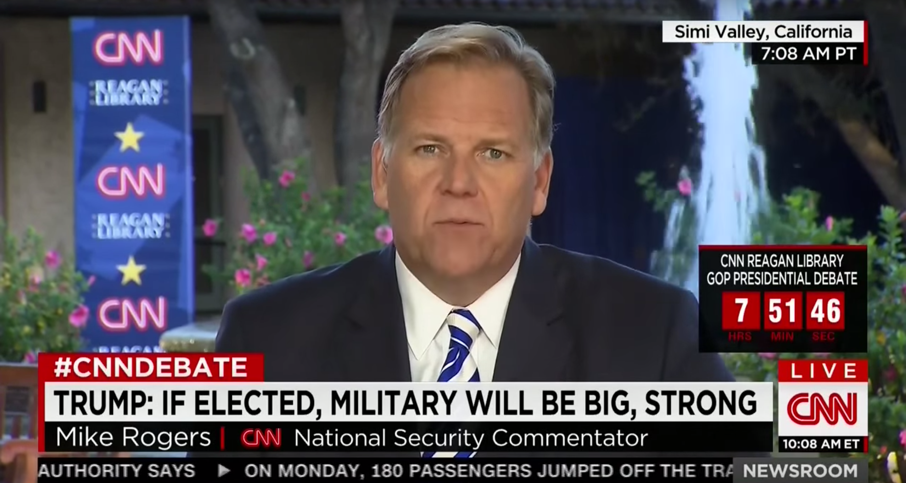 Mike Rogers on the Strength of Candidates' Foreign Policy, CNN, September 16, 2015