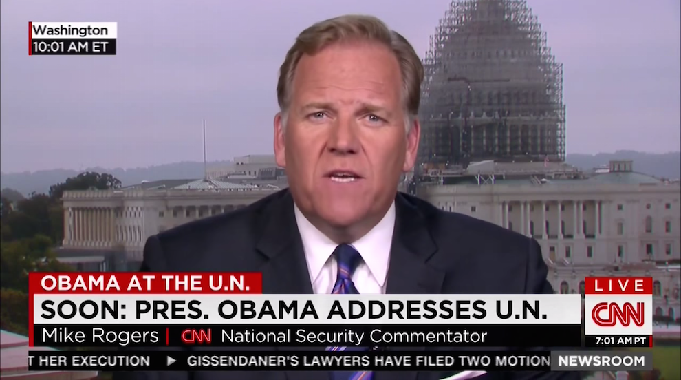 Mike Rogers on Russian Actions in the Middle East, CNN, September 29, 2015