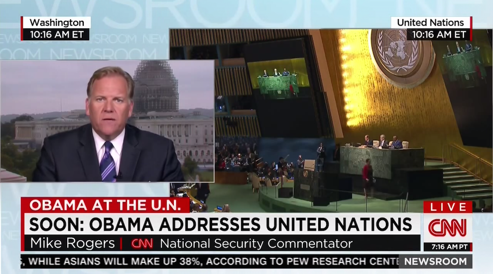 Mike Rogers on Assad Remaining in Power, CNN, September 29, 2015