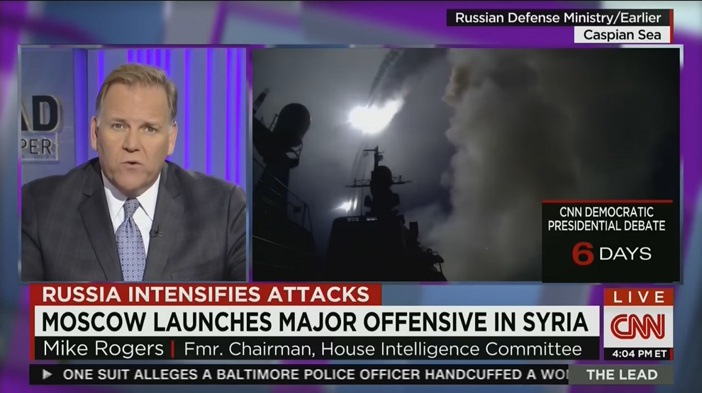 Mike Rogers on a Needed U.S. Response to Russia in Syria, CNN, October 8, 2015