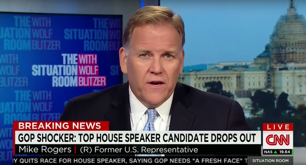 Mike Rogers on Paul Ryan as Speaker, CNN, October 12, 2015
