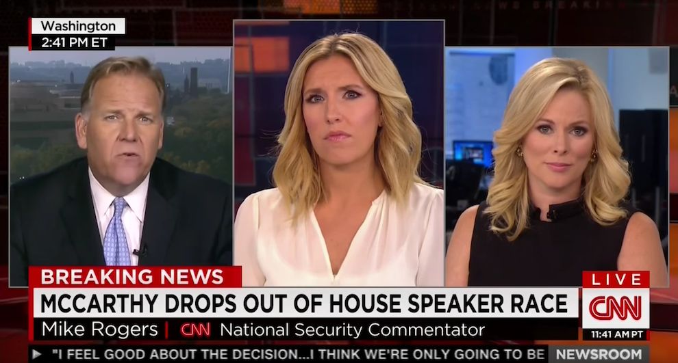 Mike Rogers on the Race for Speaker, CNN, October 12, 2015