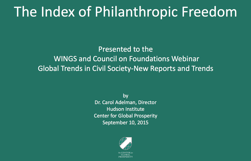 Shrinking Space for Civil Society and Philanthropy - New Reports and Trends, Council on Foundations, September 10, 2015