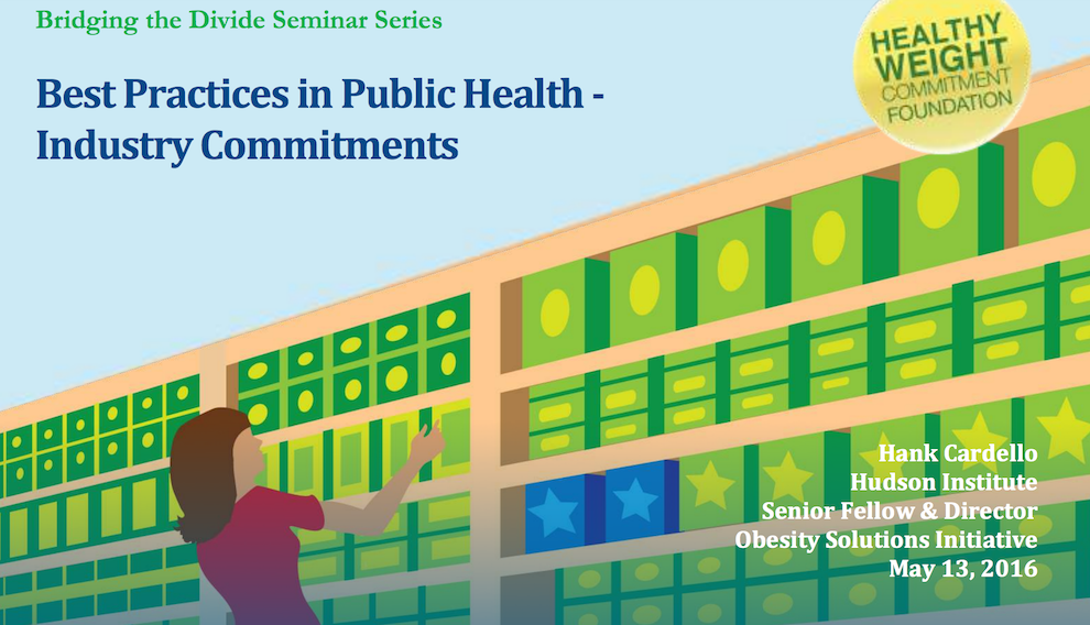Best Practices in Public Health - Industry Commitments, Together Counts, May 13, 2016