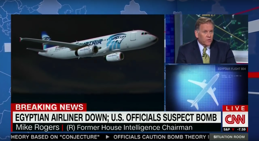 Mike Rogers on Terror Threats to Airliners, CNN, May 20, 2016