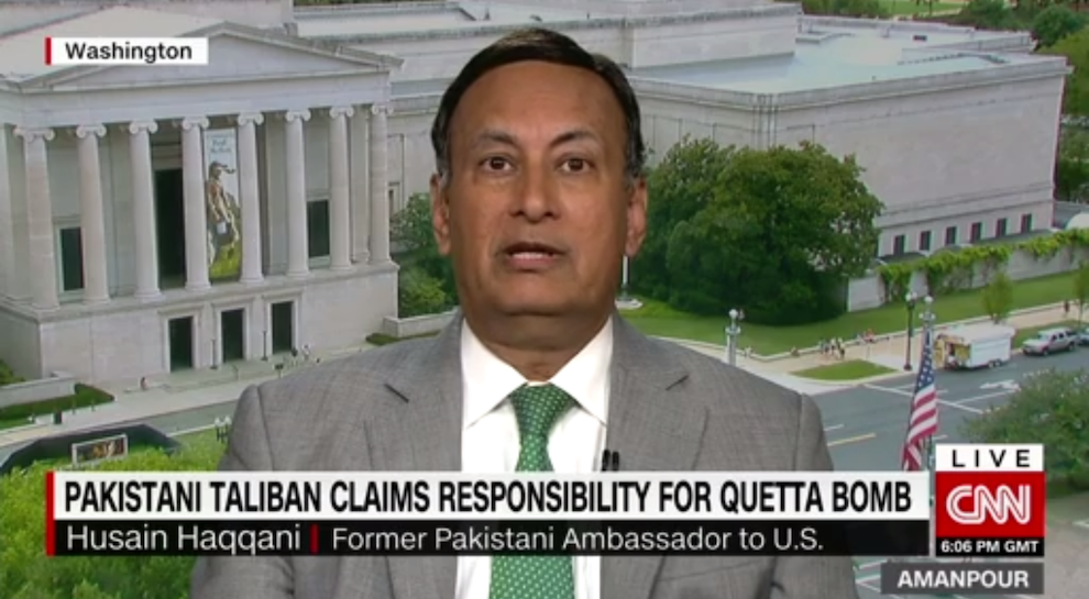 Former Official: Pakistan's Taliban Policy 'Inadequate', CNN, August 8th, 2016
