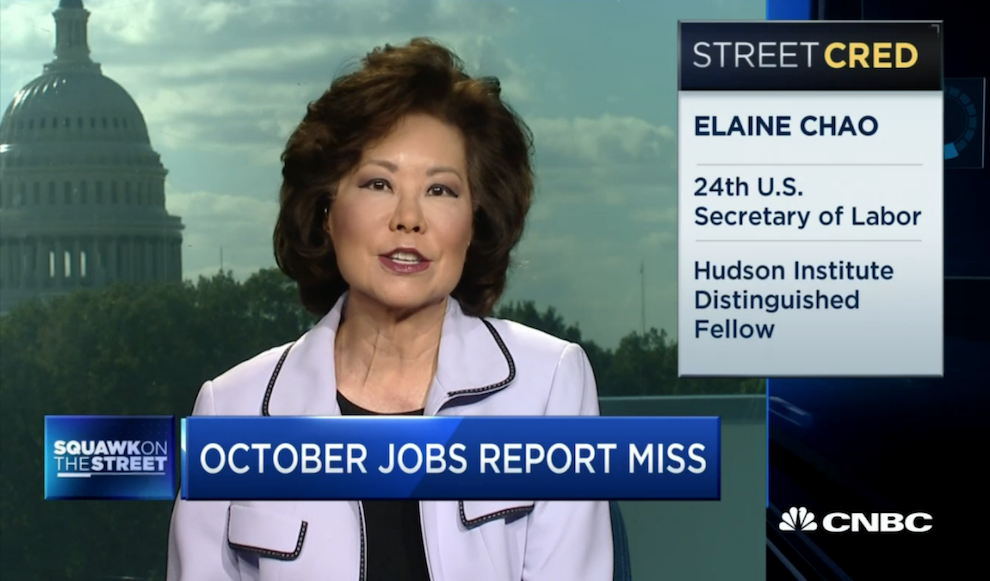Not Much Drama or Difference in October Jobs Report, CNBC, November 4, 2016