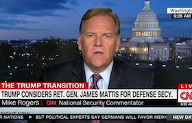 General Mattis as Defense Secretary, CNN, November 23, 2016