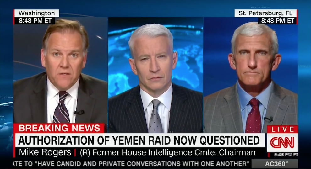 On the Yemen Raid, CNN, February 5, 2017