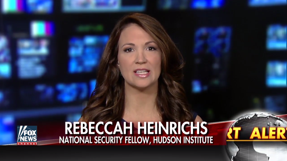 Rebecca Heinrichs on Fox News, May 22, 2017