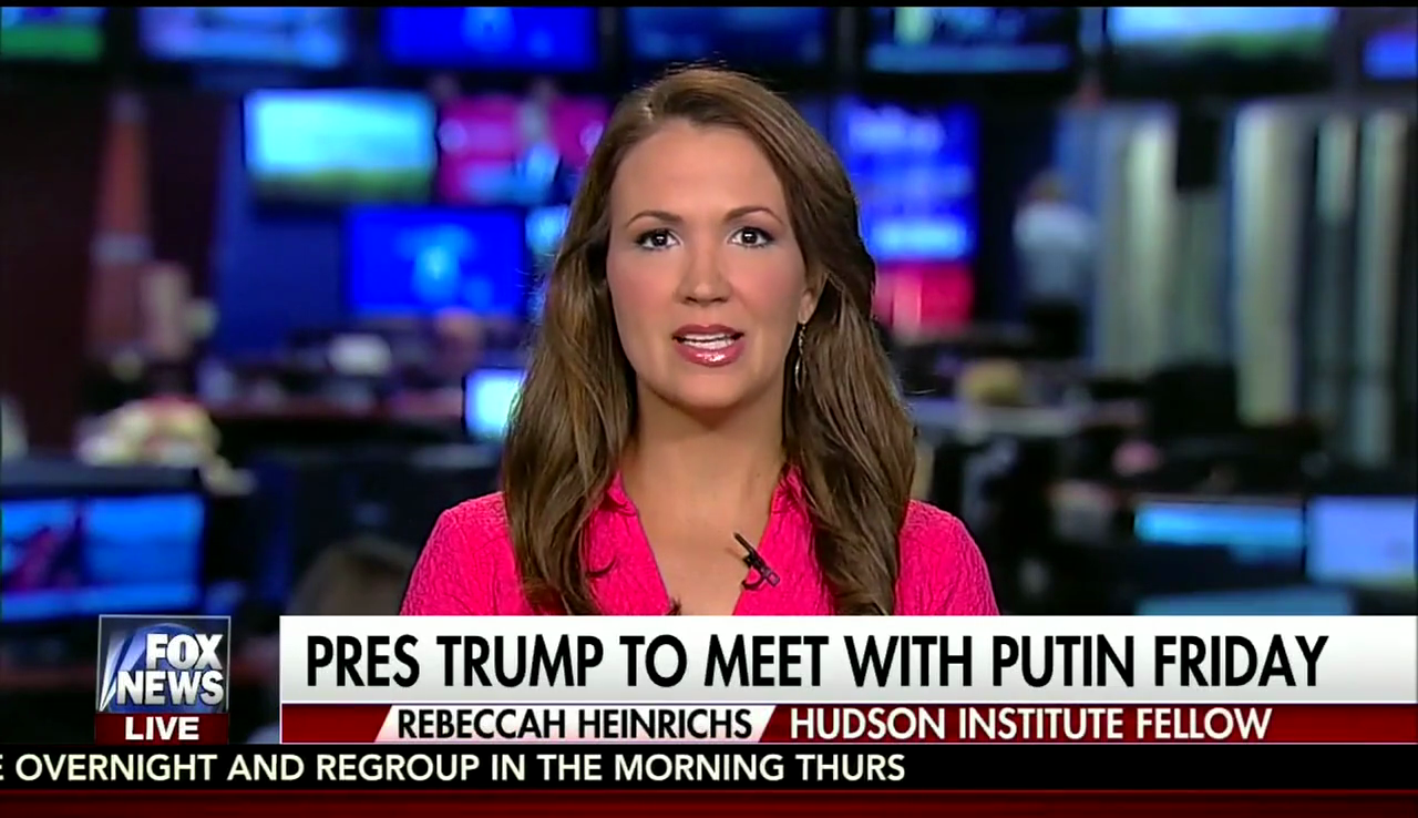 Rebeccah Heinrichs on Trump-Putin meeting, Fox News, July 6-7, 2017