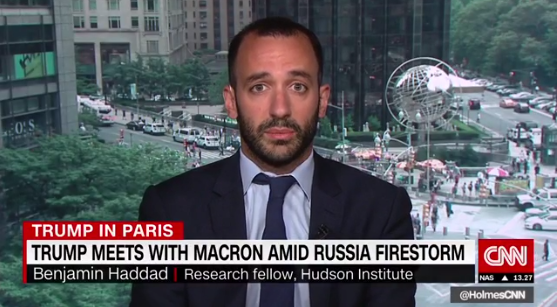 Benjamin Haddad on CNN International, July 14, 2017