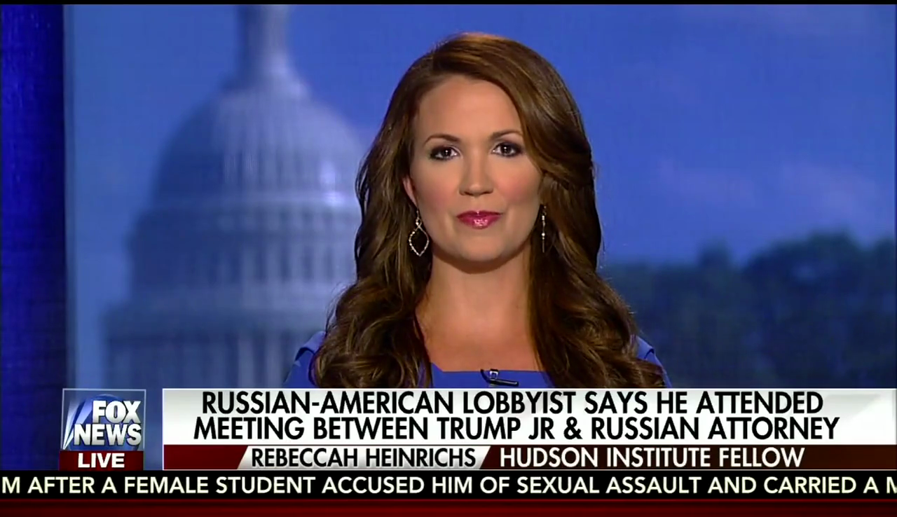 Rebeccah Heinrichs on Fox News, July 15, 2017