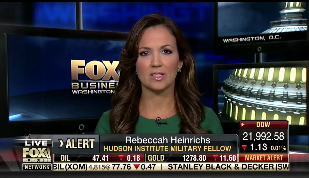 Rebeccah Heinrichs on Fox Business, August 15, 2017
