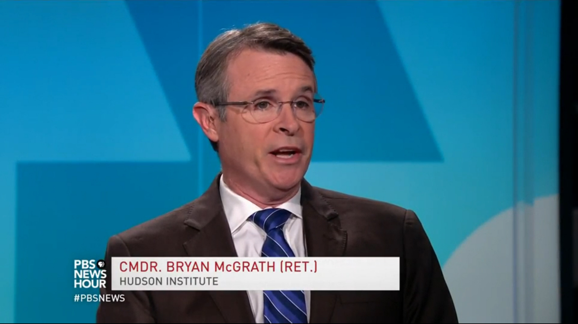 Bryan McGrath on PBS News Hour, August 21, 2017