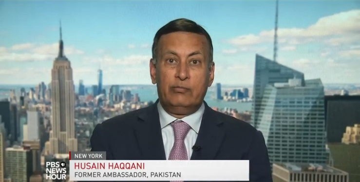 Ambassador Husain Haqqani on PBS News Hour, August 22, 2017