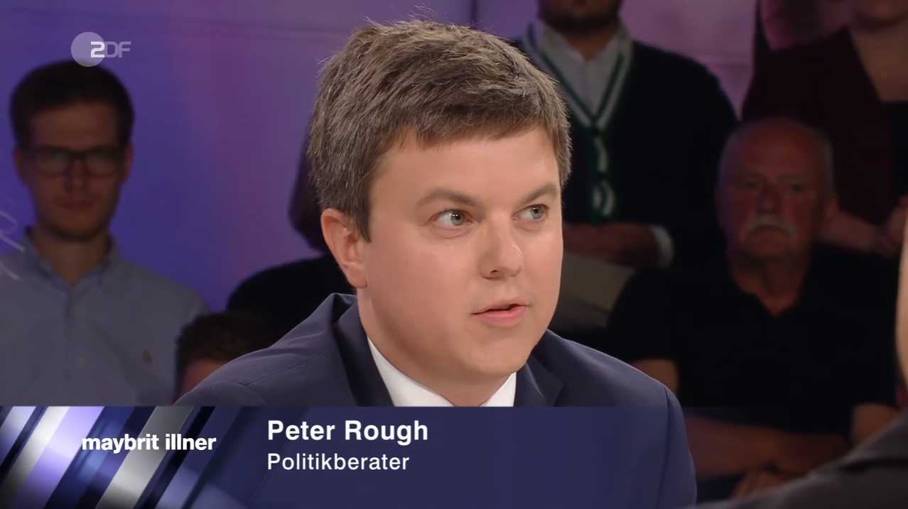 Peter Rough on ZDF, August 31, 2017