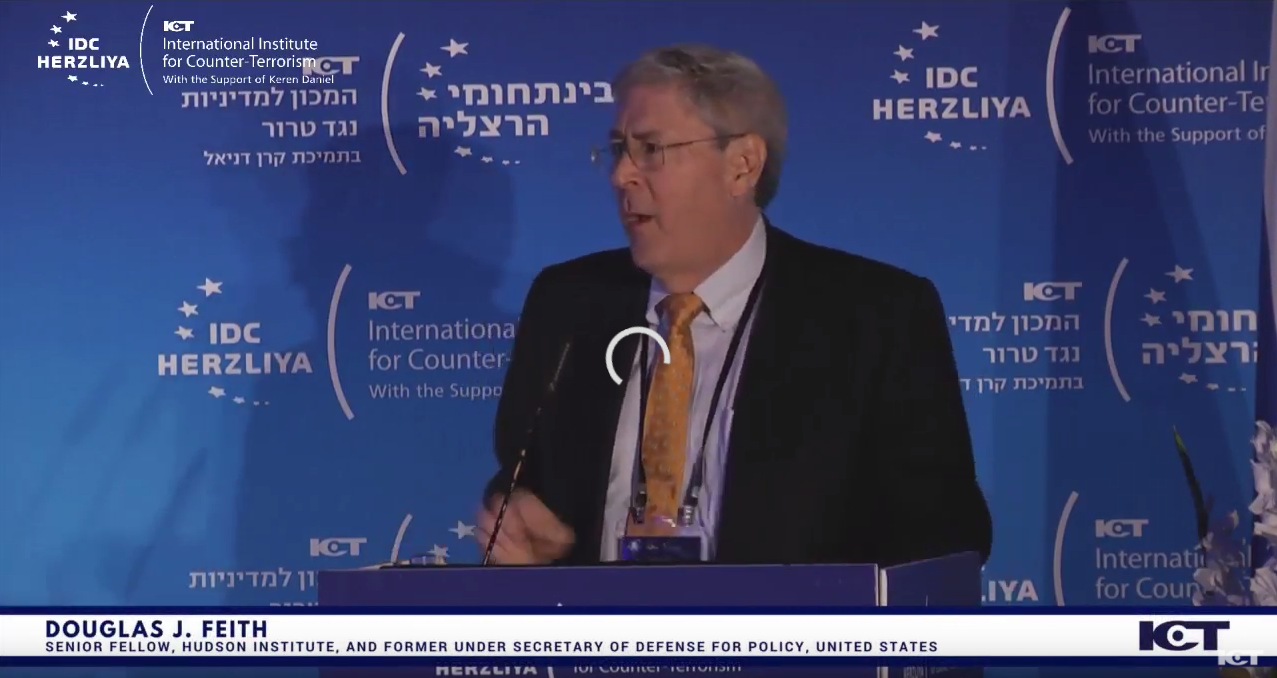 Douglas Feith at the International Institute for Counter-Terrorism, September 12, 2017