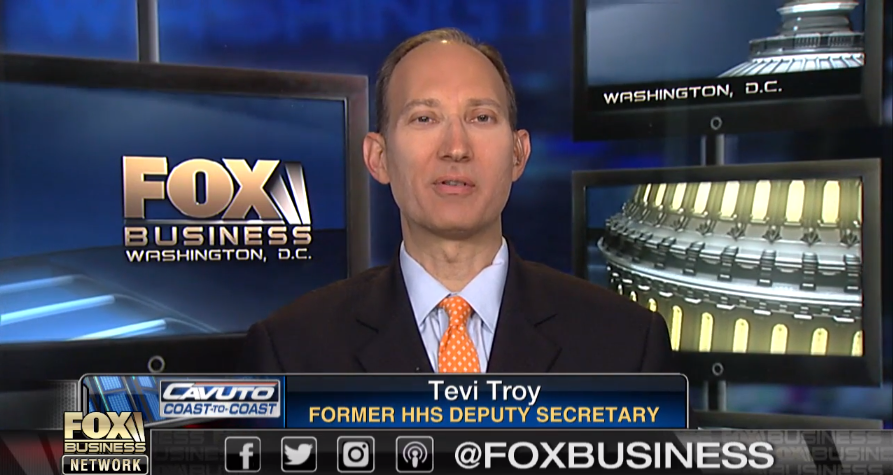 Tevi Troy on Fox Business, November 1, 2017