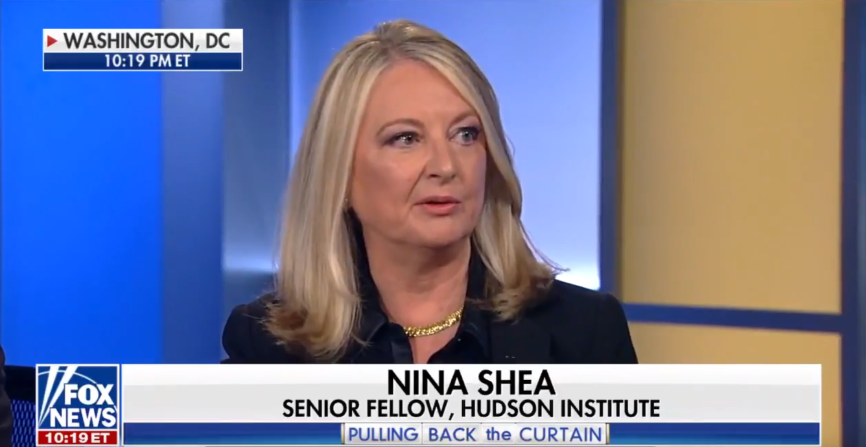 Nina Shea on Fox News, November 4, 2017