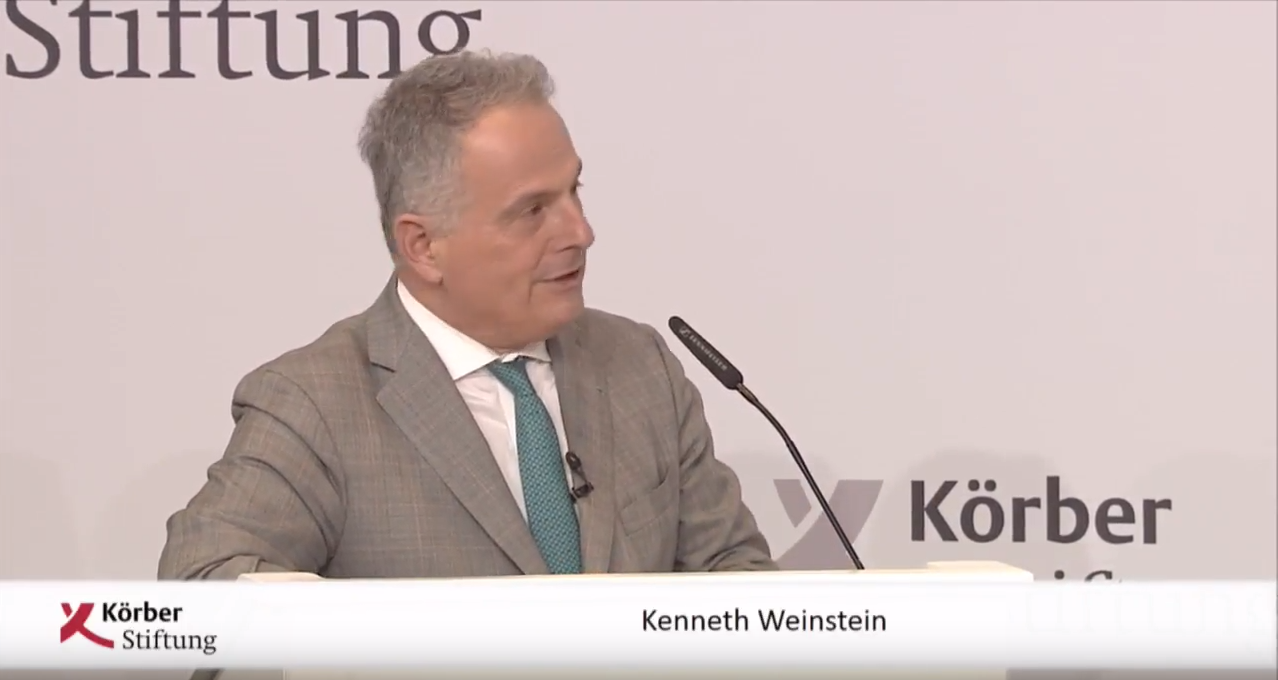 Kenneth R. Weinstein at the Berlin Foreign Policy Forum, December 5, 2017