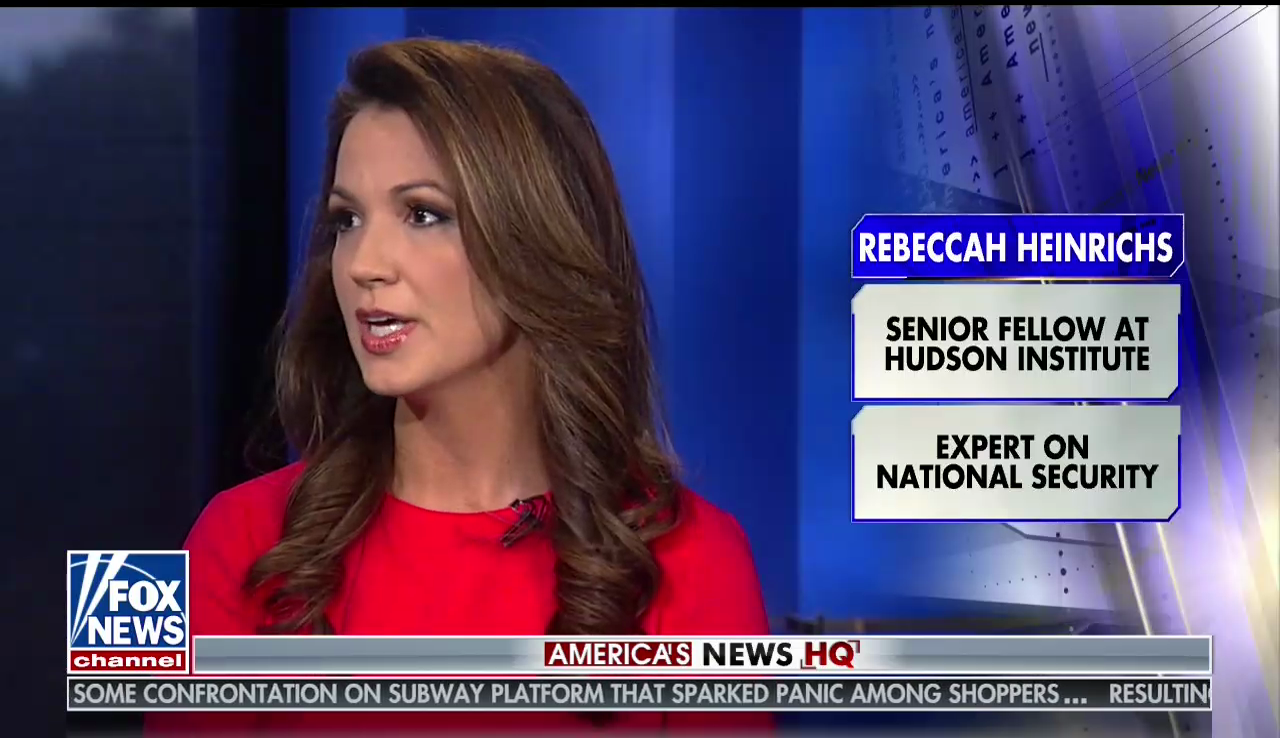 Rebeccah Heinrichs on Fox News, November 25, 2017