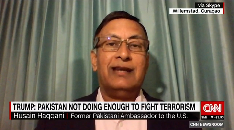 Husain Haqqani on CNN International, January 2, 2018