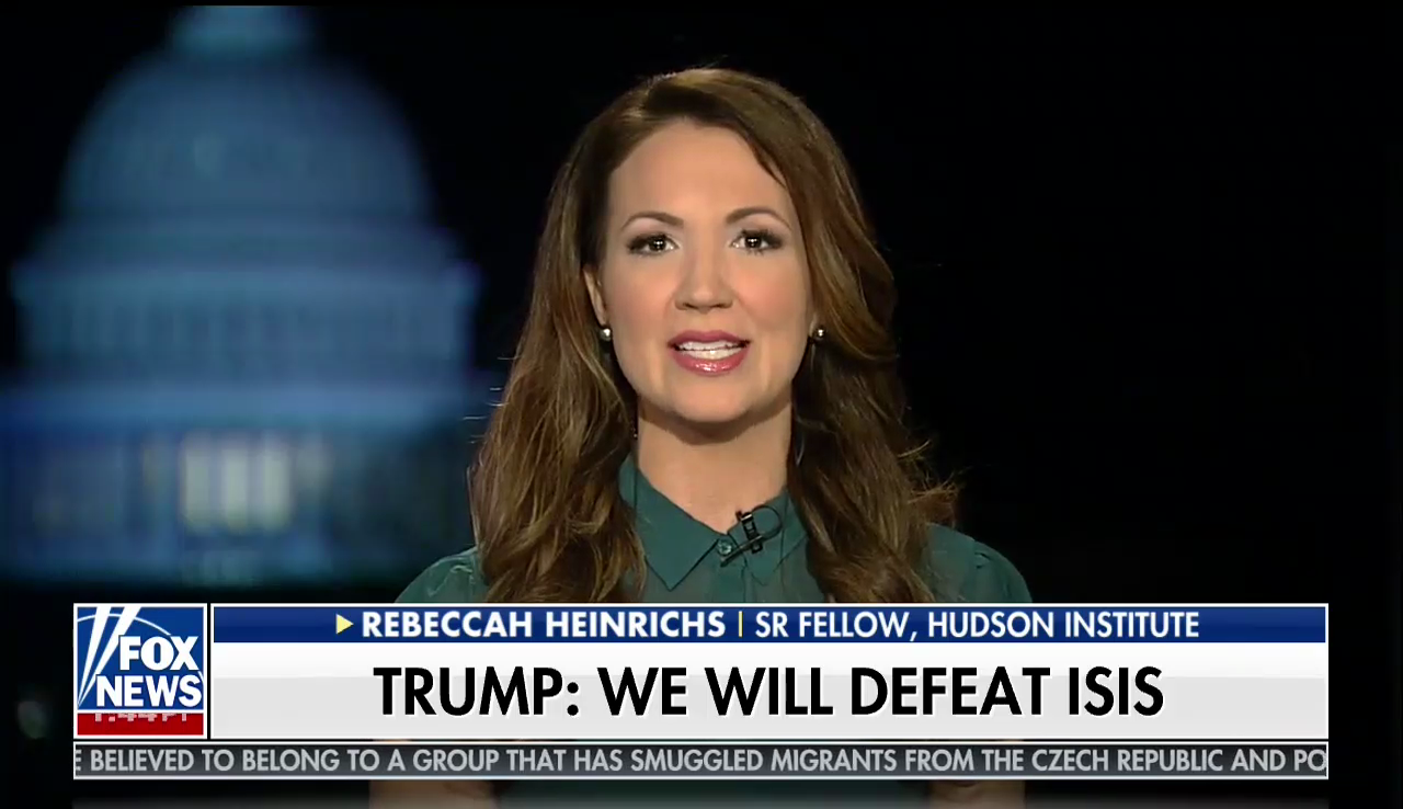 Rebeccah Heinrichs on Fox News, January 31, 2018