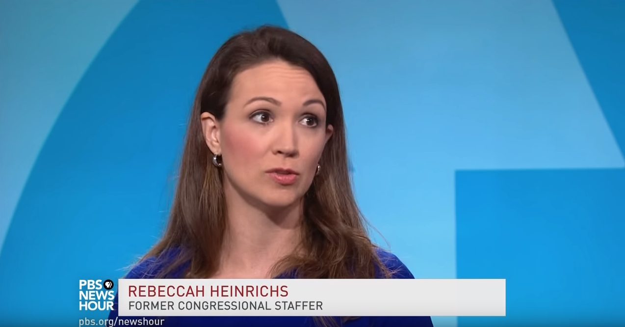 Rebeccah Heinrichs on PBS NewsHour, February 2, 2018